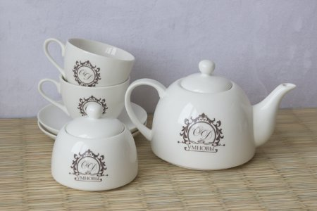 2 чайные пары + чайник + сахарница
